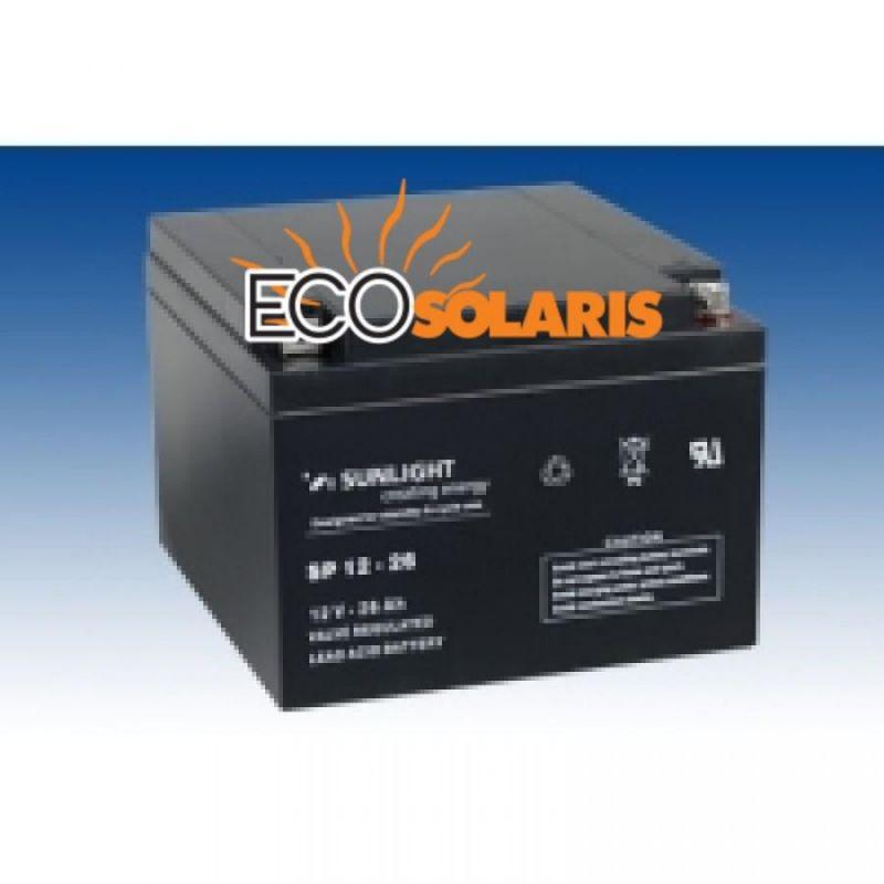 Baterie Sunlight 12V 26Ah - Panouri Fotovoltaice