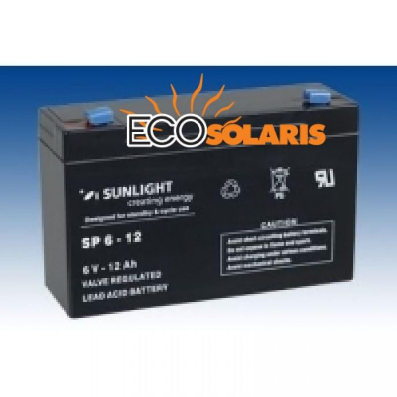 Baterie Sunlight 6V 12Ah - Panouri Fotovoltaice