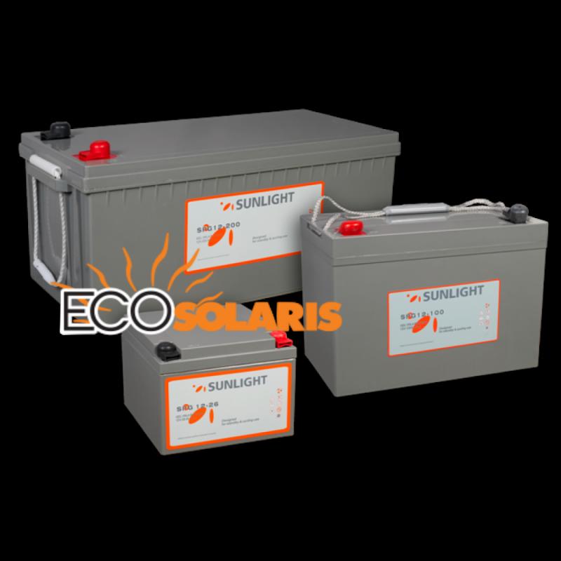 Baterie Sunlight GEL SPG 12V 150A - Panouri Fotovoltaice
