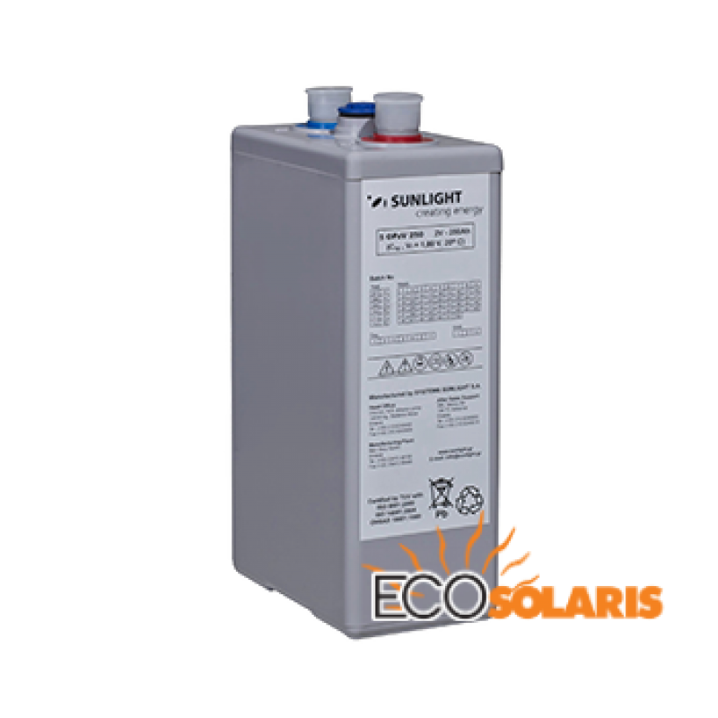 Baterie Solara Sunlight Res OPzV 12V 185 Ah - Panouri Fotovoltaice