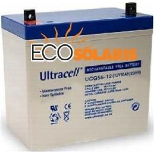 Baterie UCG 12V 55Ah Gel Ultracell