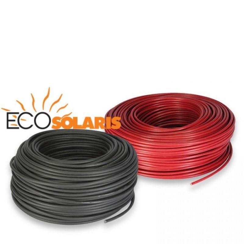 Cablu solar 6mm 50 ml 25ml rosu - 25ml negru - Panouri Fotovoltaice