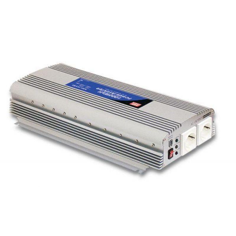 Invertor Off-Grid Sinus Modificat Meanwell 24V/230V 1500W - Panouri Fotovoltaice