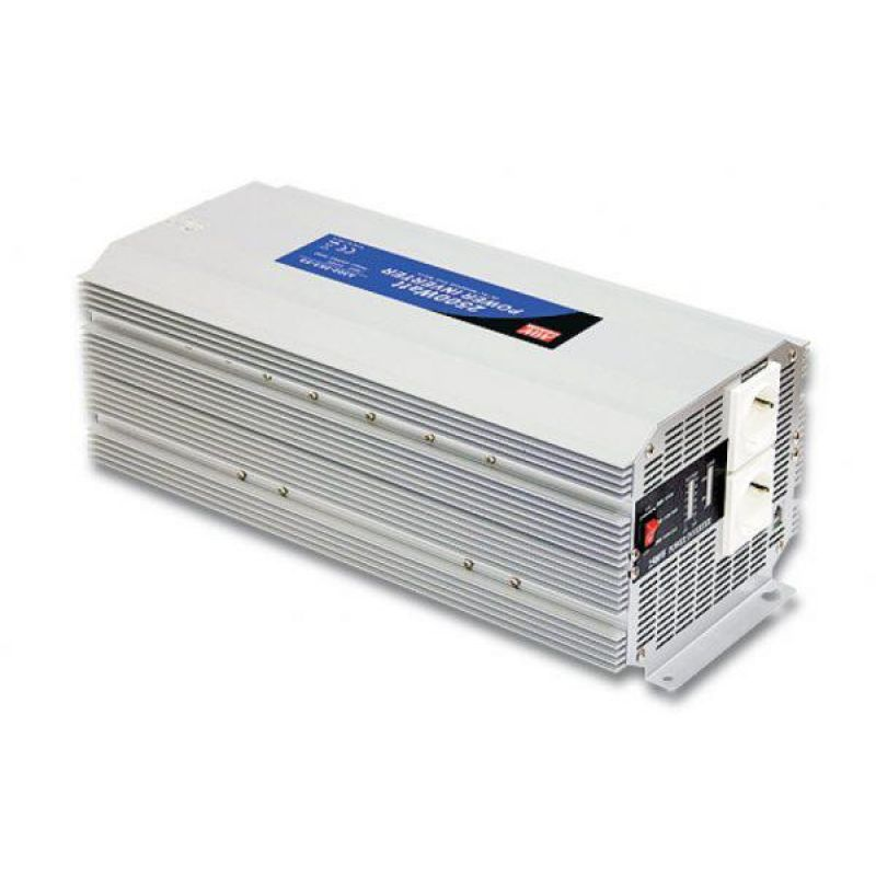 Invertor Off-Grid Sinus Modificat Meanwell 24V/230V 2500W - Panouri Fotovoltaice