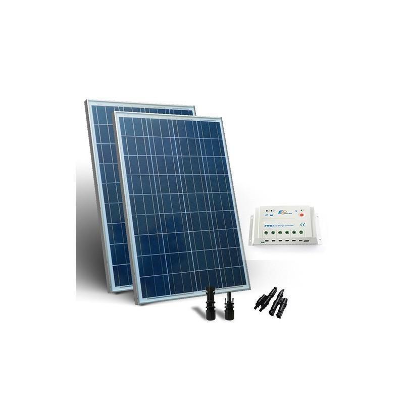 KIT SOLAR BASE 300W PANOU SOLAR CONTROLER 12A 20A  PWM - Panouri Fotovoltaice