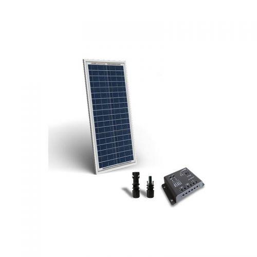 KIT SOLAR BASE 30W 12V PANOU SOLAR CONTROLER 12V 4A PWM - Panouri Fotovoltaice