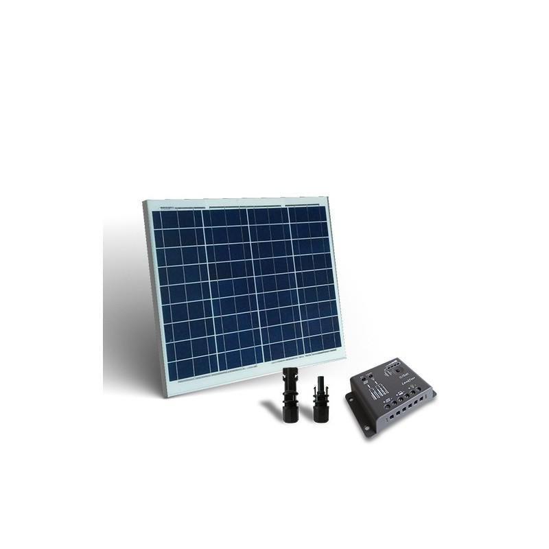KIT SOLAR  BASE 50W 12V PANOU SOLAR CONTROLER  5A-PWM - Panouri Fotovoltaice