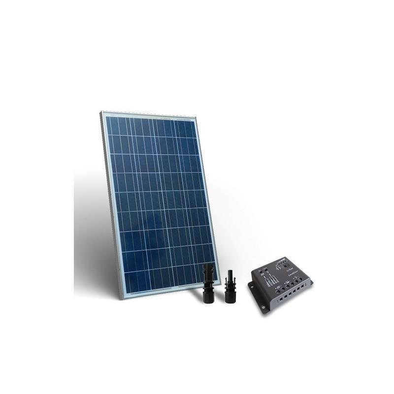 KIT SOLAR  BASE 80W PANOU SOLAR  CONTROLER 12V 5A - PWM - Panouri Fotovoltaice