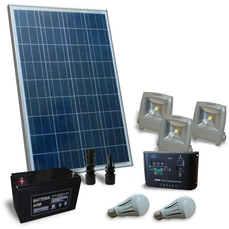 KIT SOLAR FOTOVOLTAIC PENTRU ILUMINAT 12V 130W - Panouri Fotovoltaice