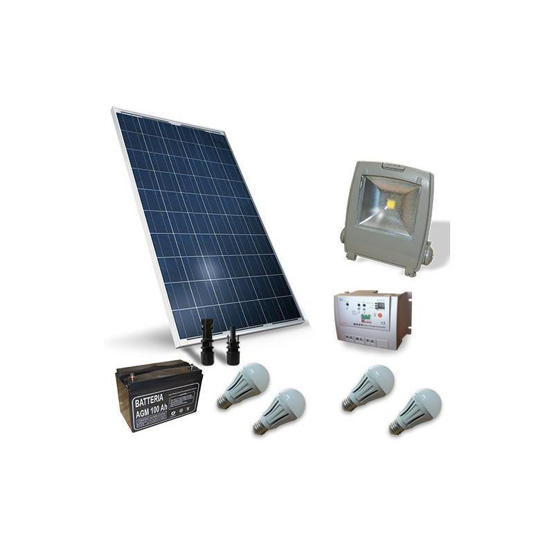 KIT SOLAR FOTOVOLTAIC PENTRU ILUMINAT 12V 260W / 1560W zi - Panouri Fotovoltaice