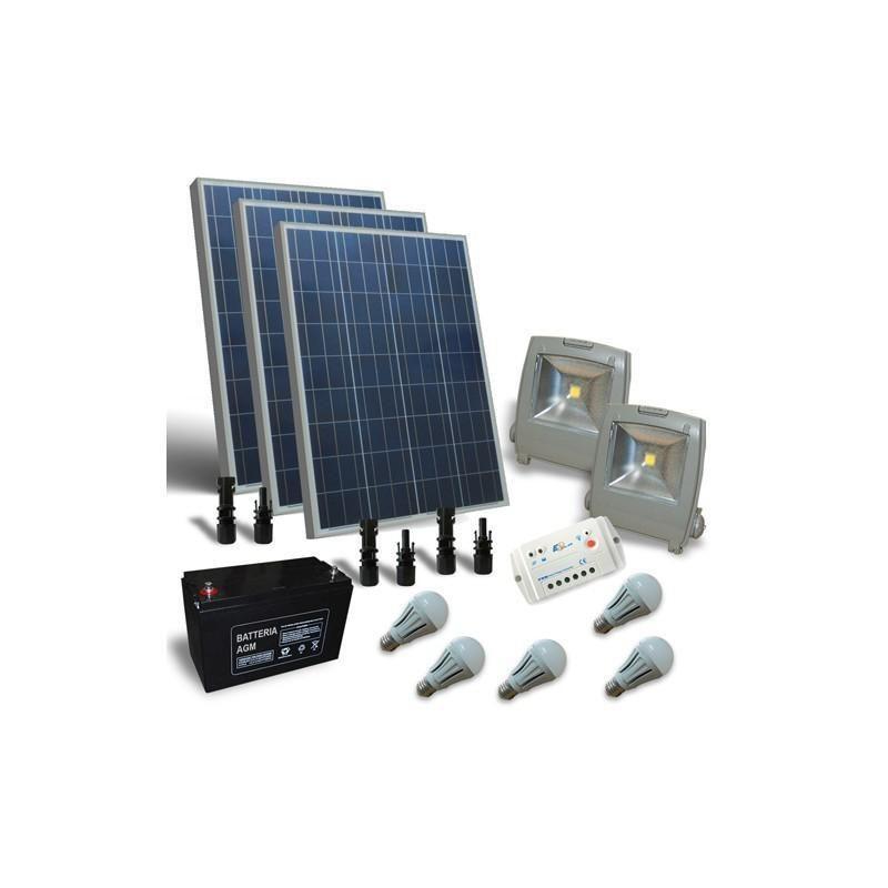 KIT SOLAR FOTOVOLTAIC PENTRU ILUMINAT 12V 300W / 1800W zi - Panouri Fotovoltaice