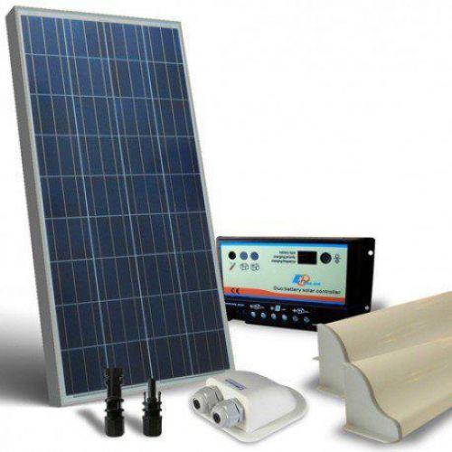 KIT SOLAR FOTOVOLTAIC RULOTA 12V 100W/600W zi BASE - Panouri Fotovoltaice