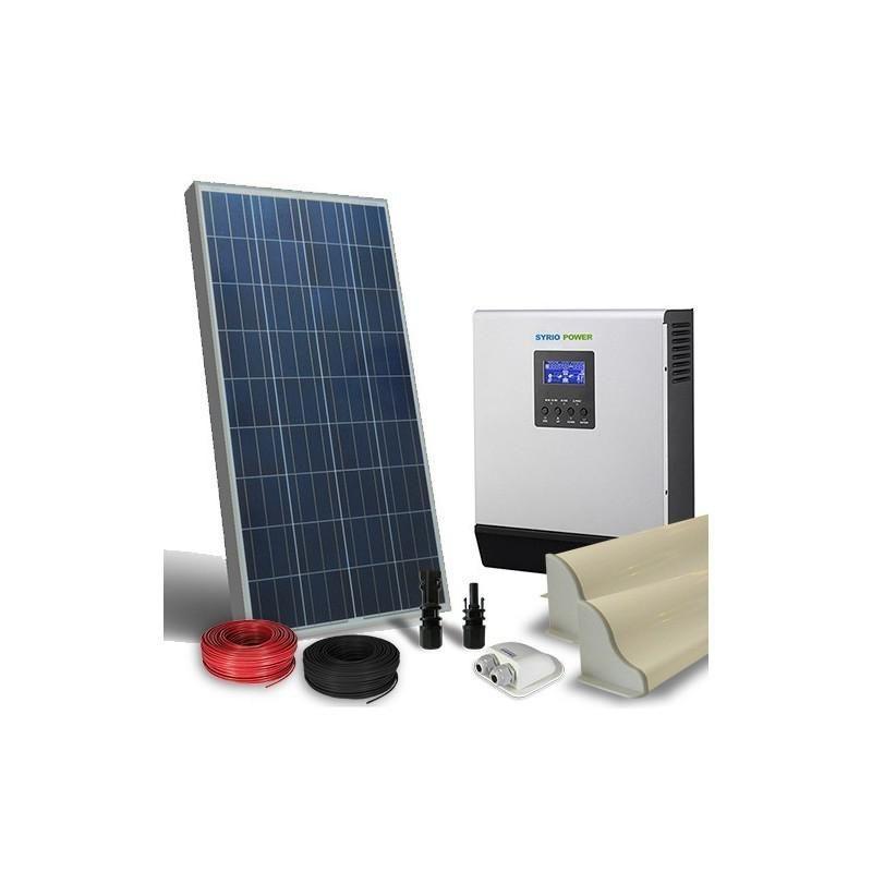 KIT SOLAR FOTOVOLTAIC RULOTA 12V 150W /900 zi LUX - Panouri Fotovoltaice