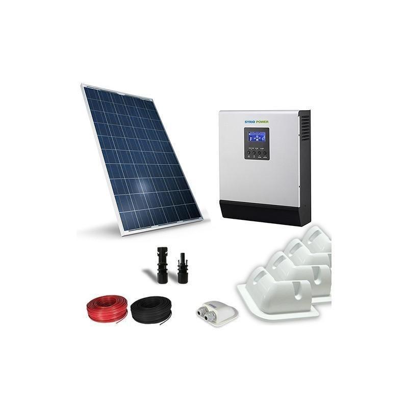 KIT SOLAR FOTOVOLTAIC RULOTA 12V 200W / 1200W zi LUX - Panouri Fotovoltaice