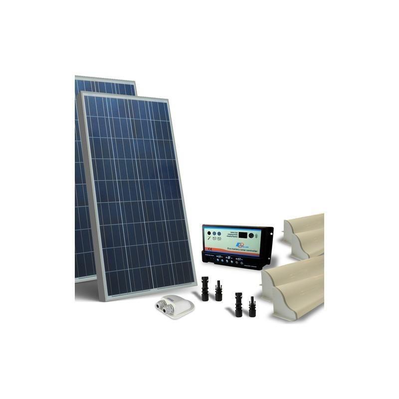 KIT SOLAR FOTOVOLTAIC RULOTA 12V 300W / 1800W zi BASE - Panouri Fotovoltaice