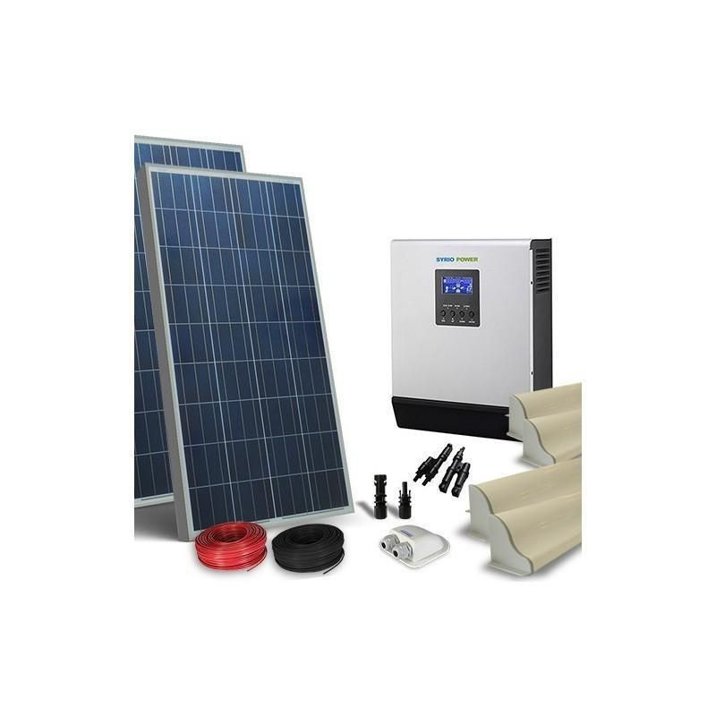 KIT SOLAR FOTOVOLTAIC RULOTA 12V 300W / 1800W zi LUX - Panouri Fotovoltaice