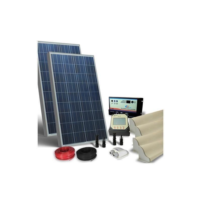 KIT SOLAR FOTOVOLTAIC RULOTA 12V 300W / 1800W zi  PRO - Panouri Fotovoltaice