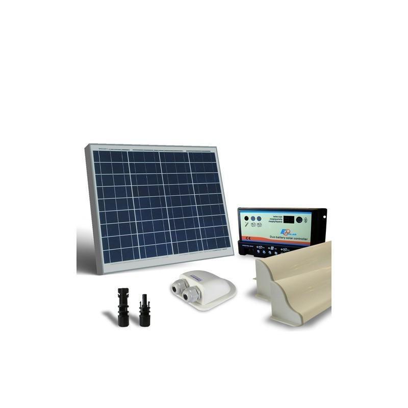 KIT SOLAR FOTOVOLTAIC RULOTA  50W 12V /300W zi BASE - Panouri Fotovoltaice