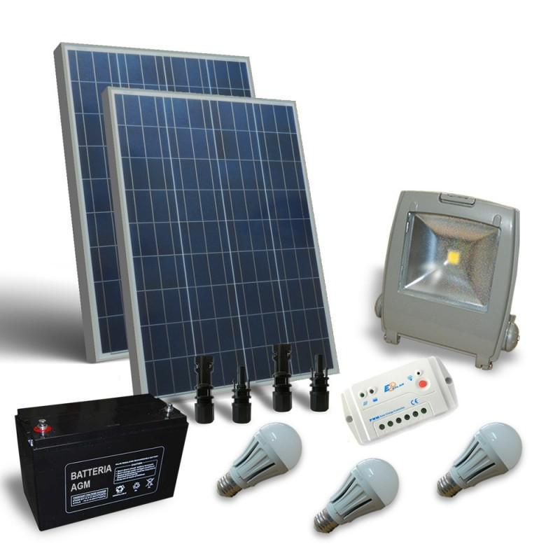 KIT SOLAR ILUMINAT LED 12V 200W INTERIOR / EXTERIOR / 1200W zi - Panouri Fotovoltaice