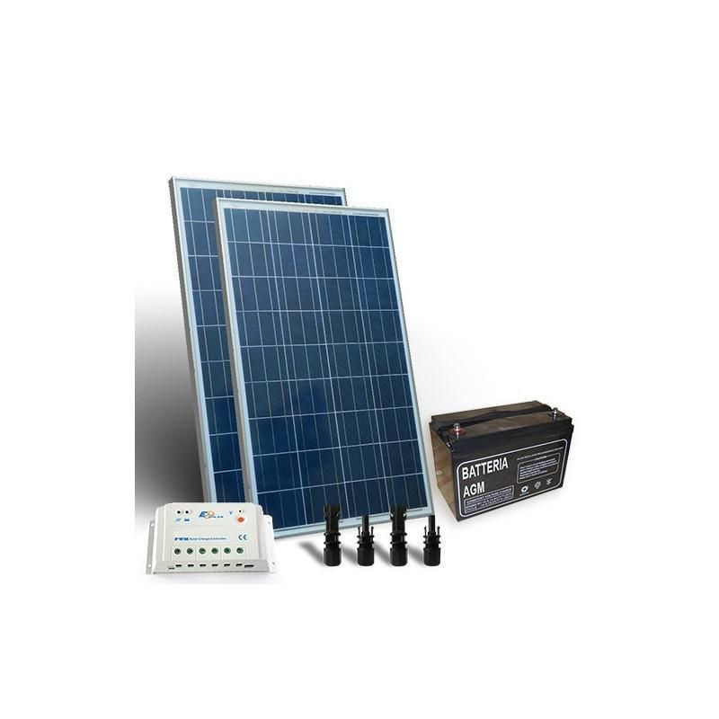 KIT SOLAR PRO 300W 12V PANOU SOLAR CONTROLER 20A-PWM BATERIE 120AH - Panouri Fotovoltaice