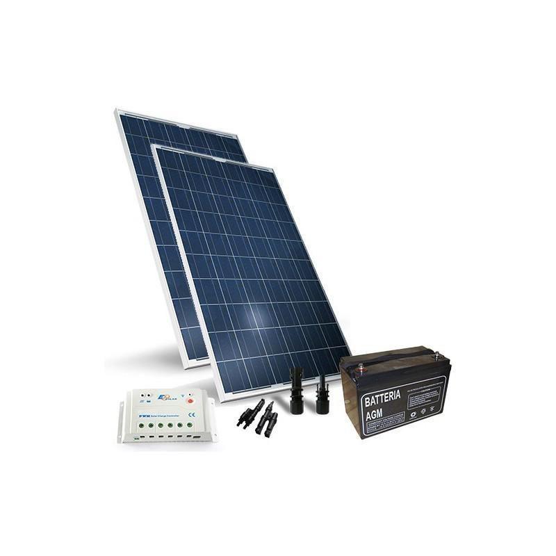 KIT SOLAR PRO 400W 12V PANOU SOLAR CONTROLER 30A-PWM BATERIE 150A 12V - Panouri Fotovoltaice