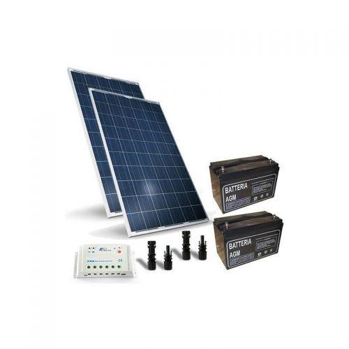KIT SOLAR PRO 520W  PANOU SOLAR CONTROLER SOLAR 20A - PWM BATERIE 100AH 12V