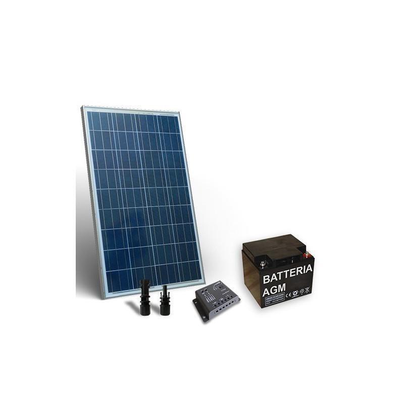 KIT SOLAR PRO 80W 12V PANOU SOLAR CONTROLER 4A-PWM BATERIE 40A 12V - Panouri Fotovoltaice