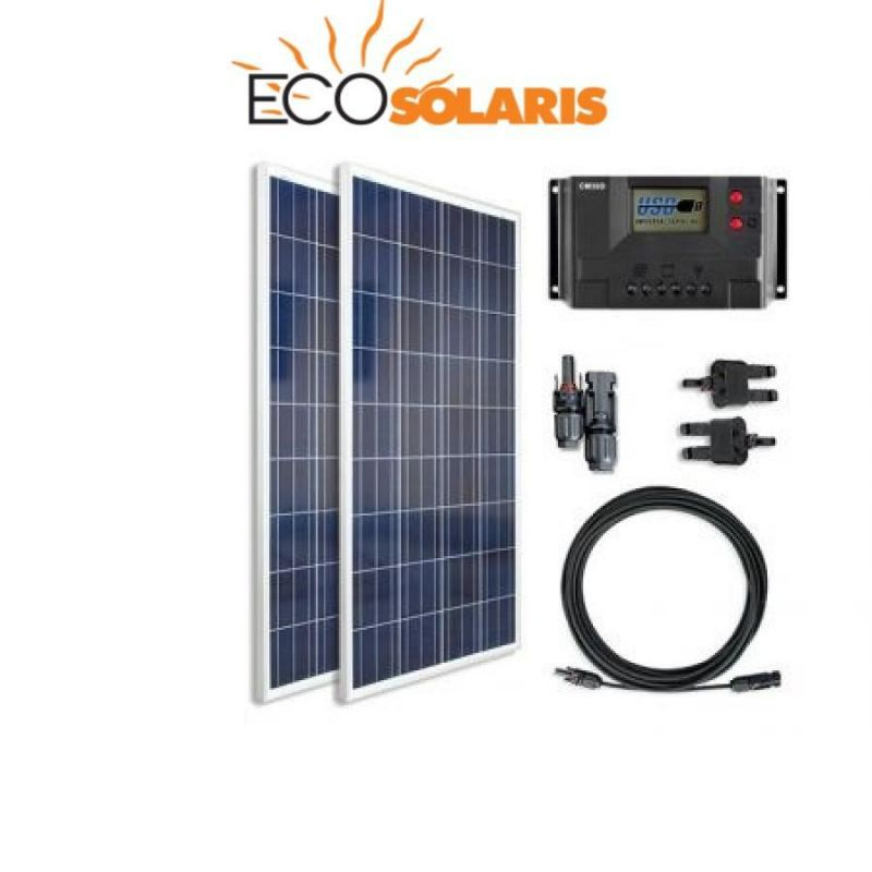Kit fotovoltaic rulota 160W poli (960W/zi) - Panouri Fotovoltaice