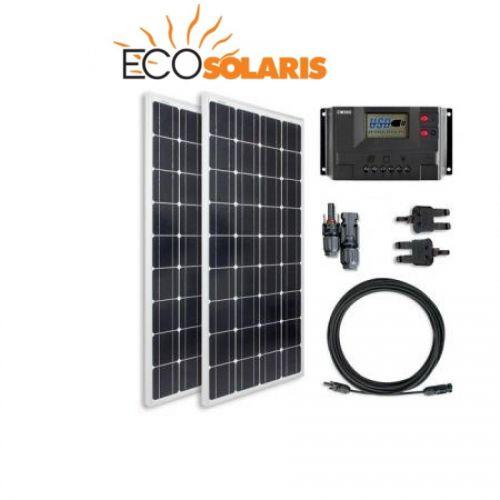 Kit fotovoltaic rulota 200W mono (1200W/zi) - Panouri Fotovoltaice