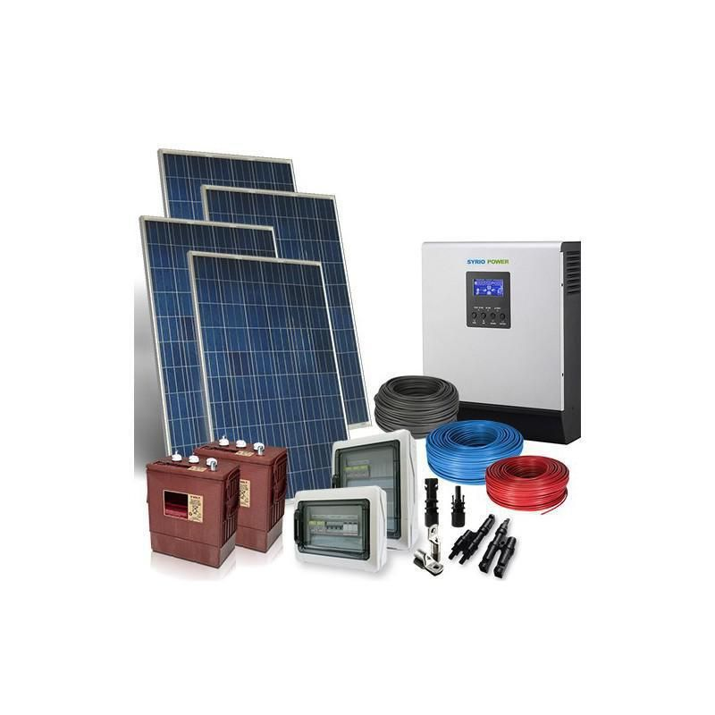 Kit Fotovoltaic Off-Grid Complet 20.8Kw 48V Baterii Trojan - Panouri Fotovoltaice