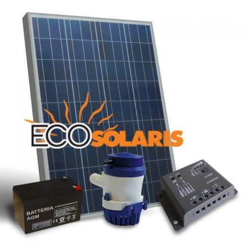 Kit Solar fotovoltaic recirculare apa 24L/M 12V 30W mono - Panouri Fotovoltaice