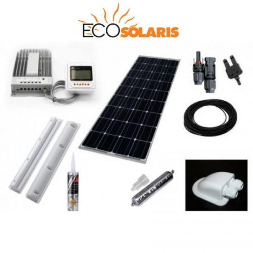 Kit complet fotovoltaic rulota 200W mono (1200W/zi)