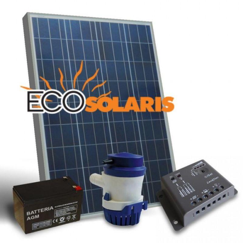 Kit solar fotovoltaic 12V pentru iaz - Panouri Fotovoltaice
