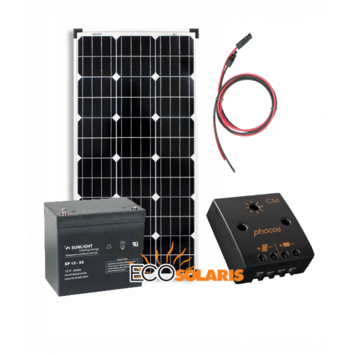 Kit solar fotovoltaic Off-Grid 160W/12V 960Wh/zi