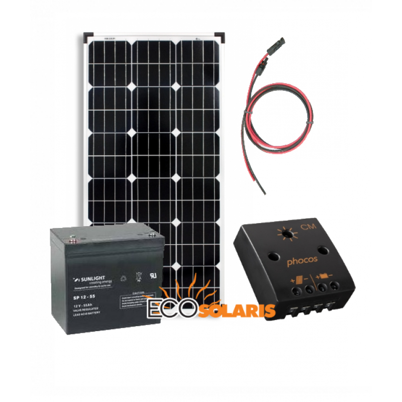Kit solar fotovoltaic Off-Grid 160W/12V 960Wh/zi - Panouri Fotovoltaice