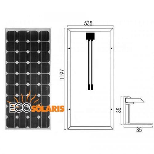 Panou fotovoltaic 100W monocristalin 670-1020-35mm