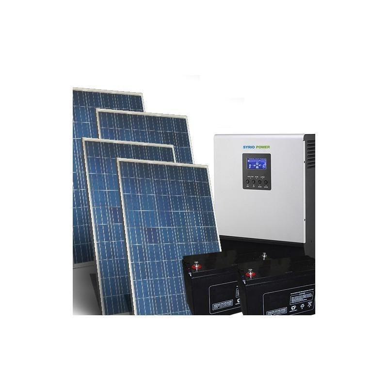 SISTEM SOLAR FOTOVOLTAIC CU BATERI AGM PENTRU CASA 1.5KW 24V / 9KW ZI - Panouri Fotovoltaice