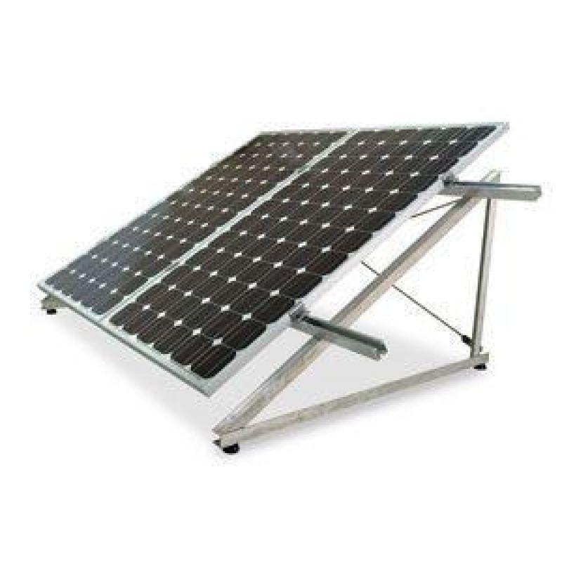 Sistem fixare aluminiu orizontal-1 panou - Panouri Fotovoltaice