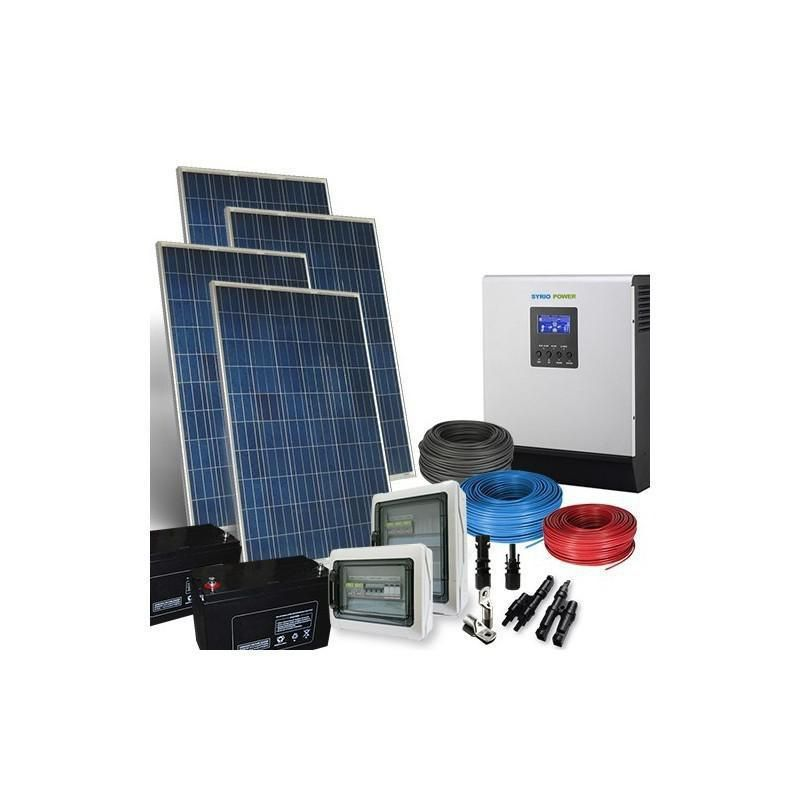 Sistem fotovoltaic Hibrid  960Wp Off Grid-12V-5.7Kw-zi - Panouri Fotovoltaice