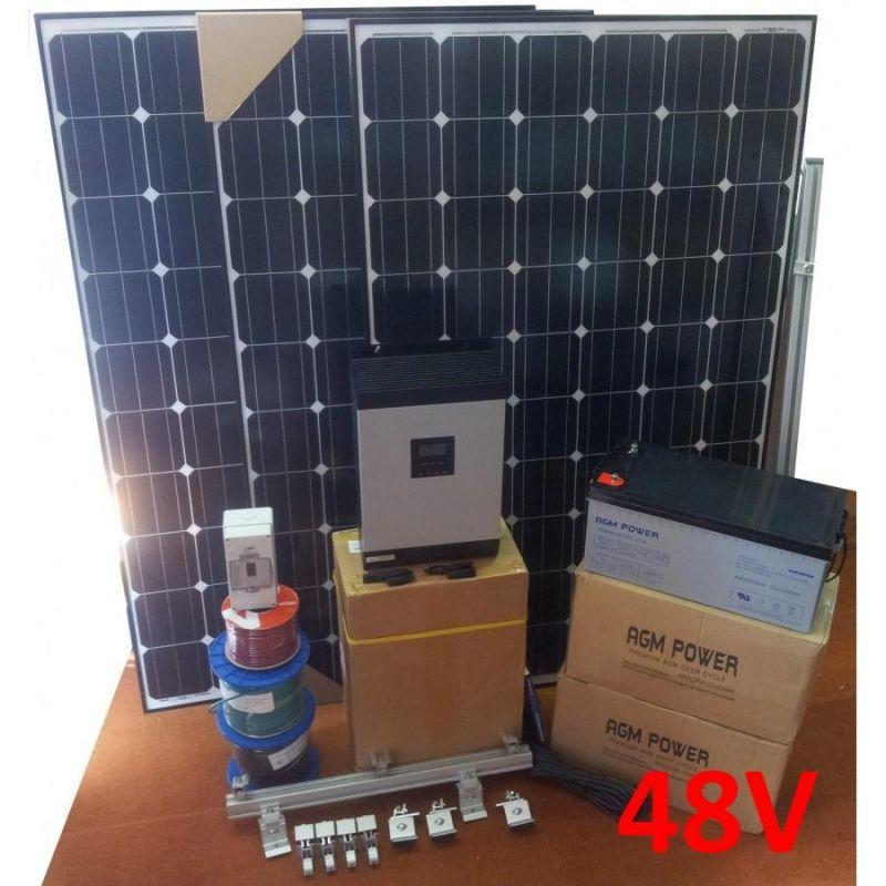 Sistem fotovoltaic Off-Grid Benq 3000W 48V 15Kw/zi - Panouri Fotovoltaice