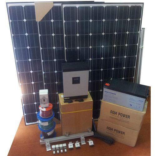 Sistem fotovoltaic off grid 12V 1440W / zi