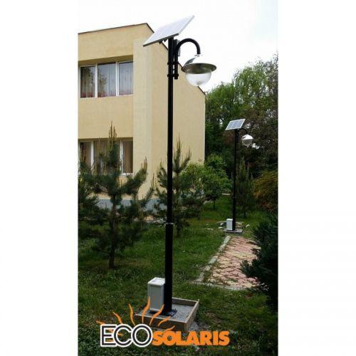 Stalp solar 3.5m /15W cu celule fotovoltaice - Panouri Fotovoltaice