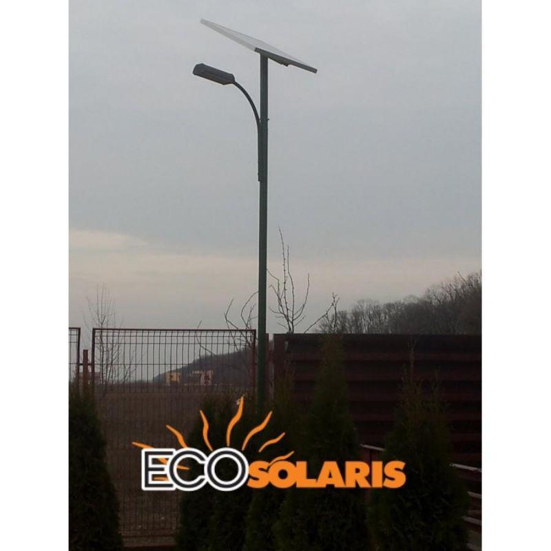 Stalp solar  3,5m cu lampa led 20W - Panouri Fotovoltaice