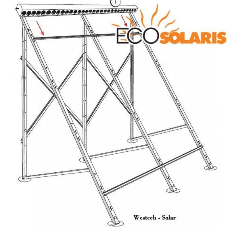 Suport de inox pt. terasa - panou solar 30 tuburi - Panouri Fotovoltaice