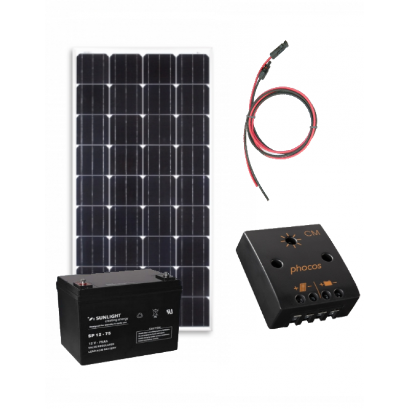 Kit solar fotovoltaic Off-Grid 300W/12V 1500W/zi