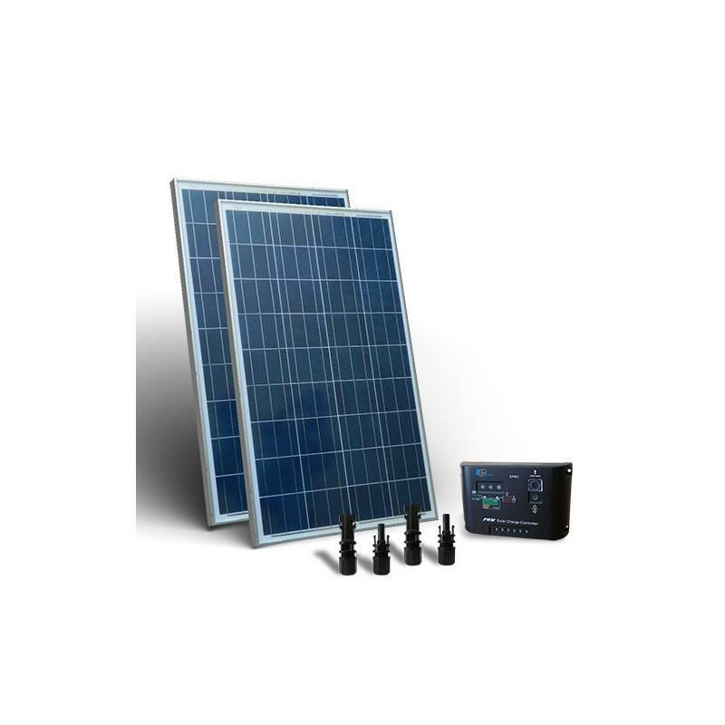 KIT SOLAR  BASE 160W PANOU FOTOVOLTAIC CONTROLER 12V 10A - PWM - Panouri Fotovoltaice