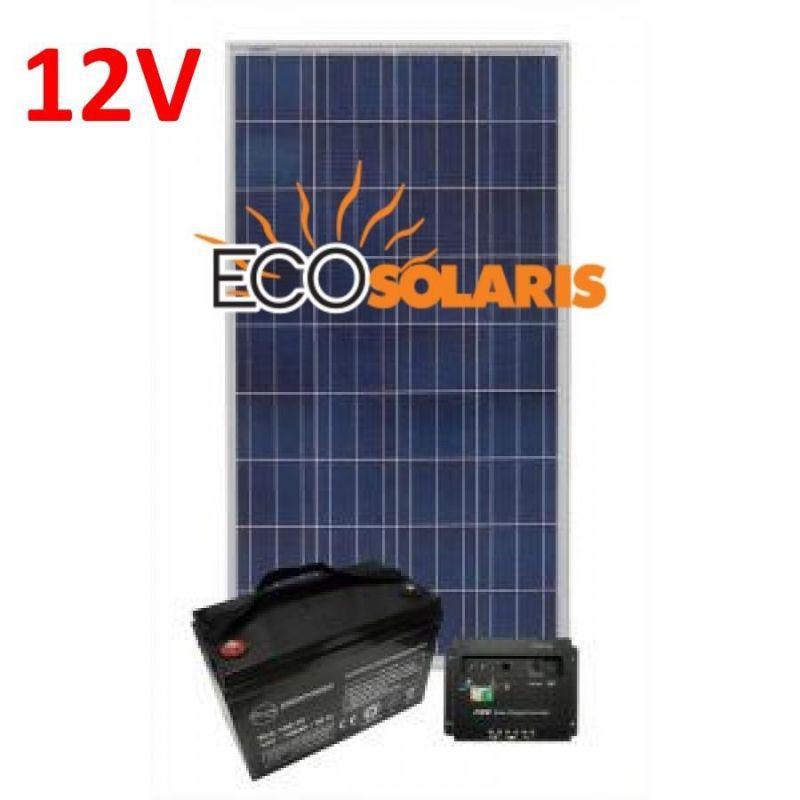 Kit solar fotovoltaic off-grid 130W 12V 650Wh/zi - Panouri Fotovoltaice