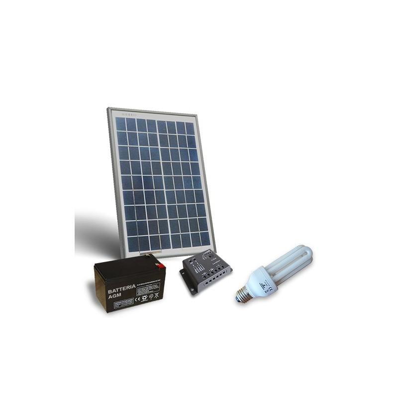 Kit solar fotovoltaic pentru iluminat interior LED 12V 20W - Panouri Fotovoltaice