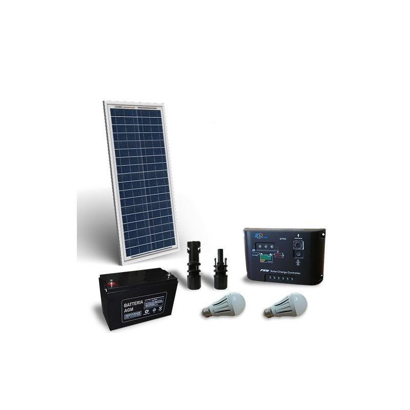 Kit solar fotovoltaic pentru iluminat interior LED 12V 30W - Panouri Fotovoltaice