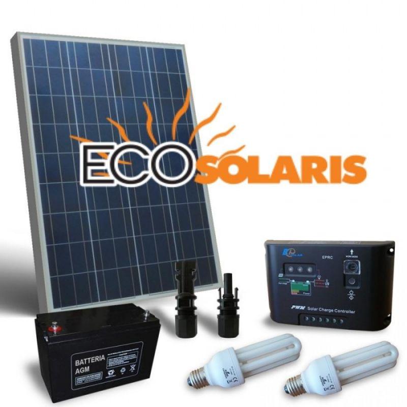 Kit solar fotovoltaic 150W/12V 750Wh/zi GEL - Panouri Fotovoltaice